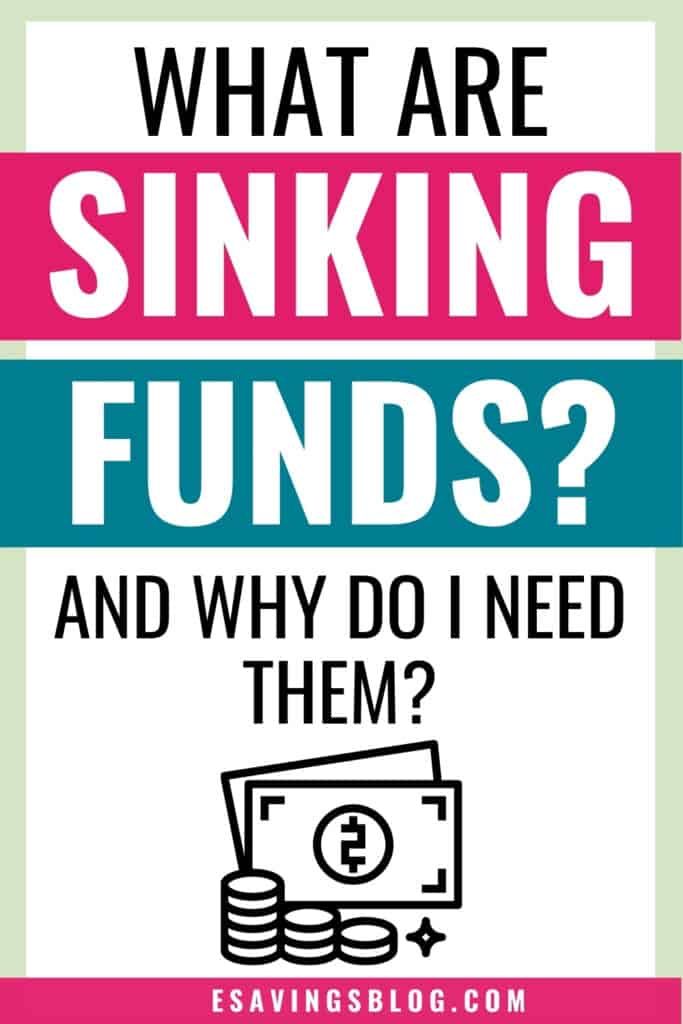 What are sinking funds Pinterest Image